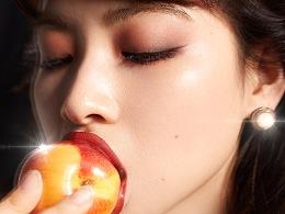 花知晓彩妆模特创意拍摄