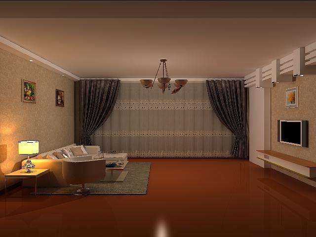 3d空间室内布局效果图