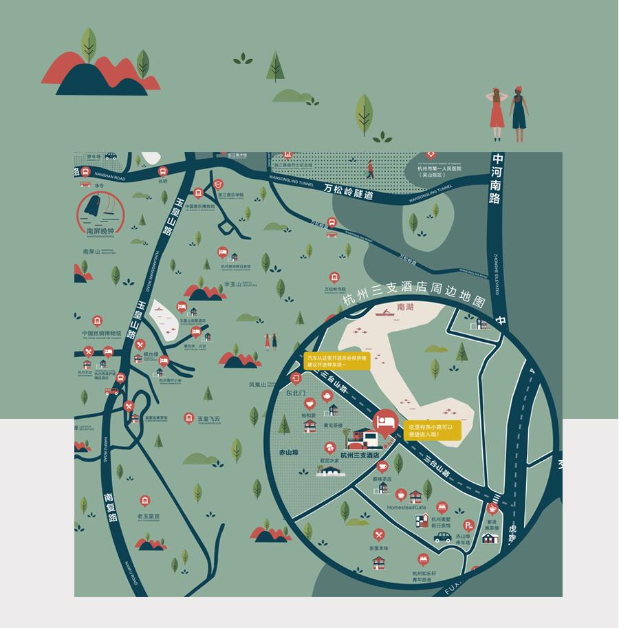 原创作品:杭州地图