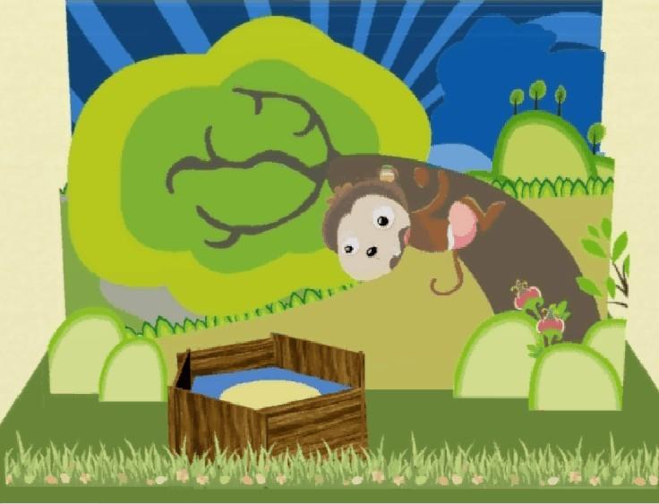 3d手绘动画《猴子捞月》