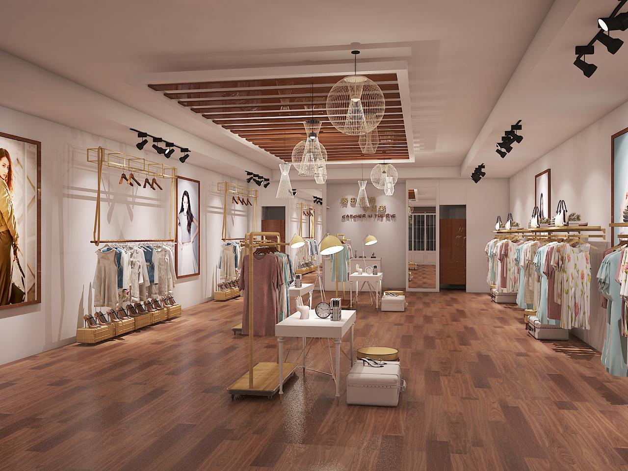 服装店|空间|展示设计 |及时雨shua啦啦 - 原创作品