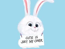爱宠大机密兔子临摹