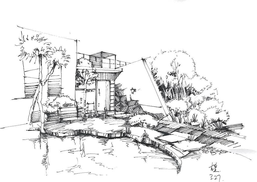 手绘线稿|空间|室内设计|z大大丶 - 原创作品 - 站酷