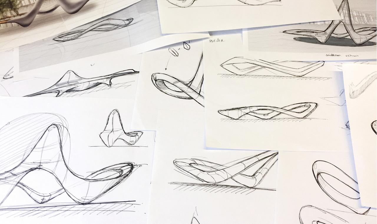 手绘座椅设计图