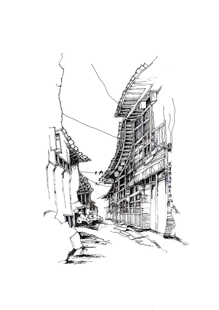 原创作品:建筑手绘
