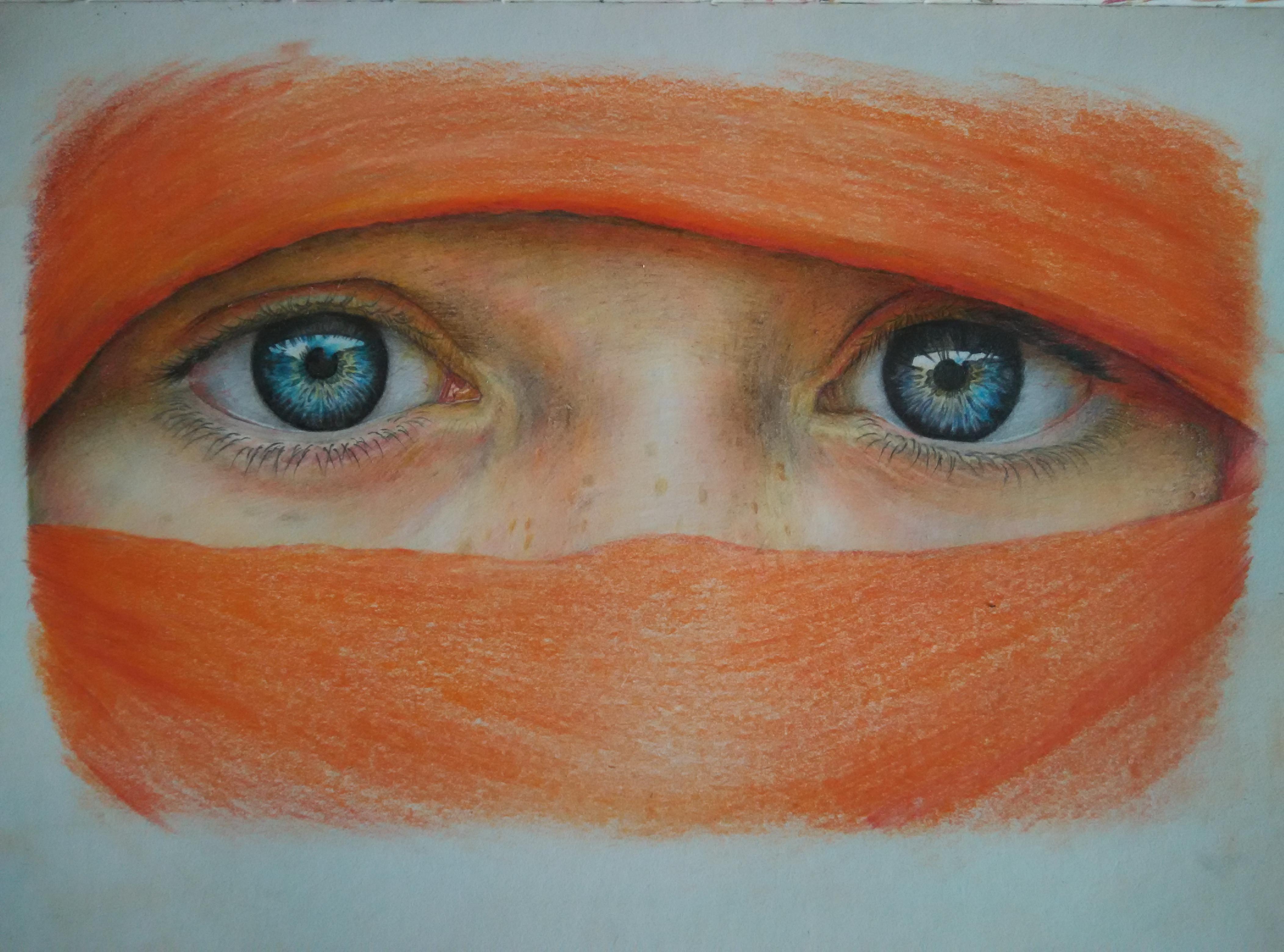 第一幅彩铅手绘|插画|插画习作|精华的胡萝卜 - 原创