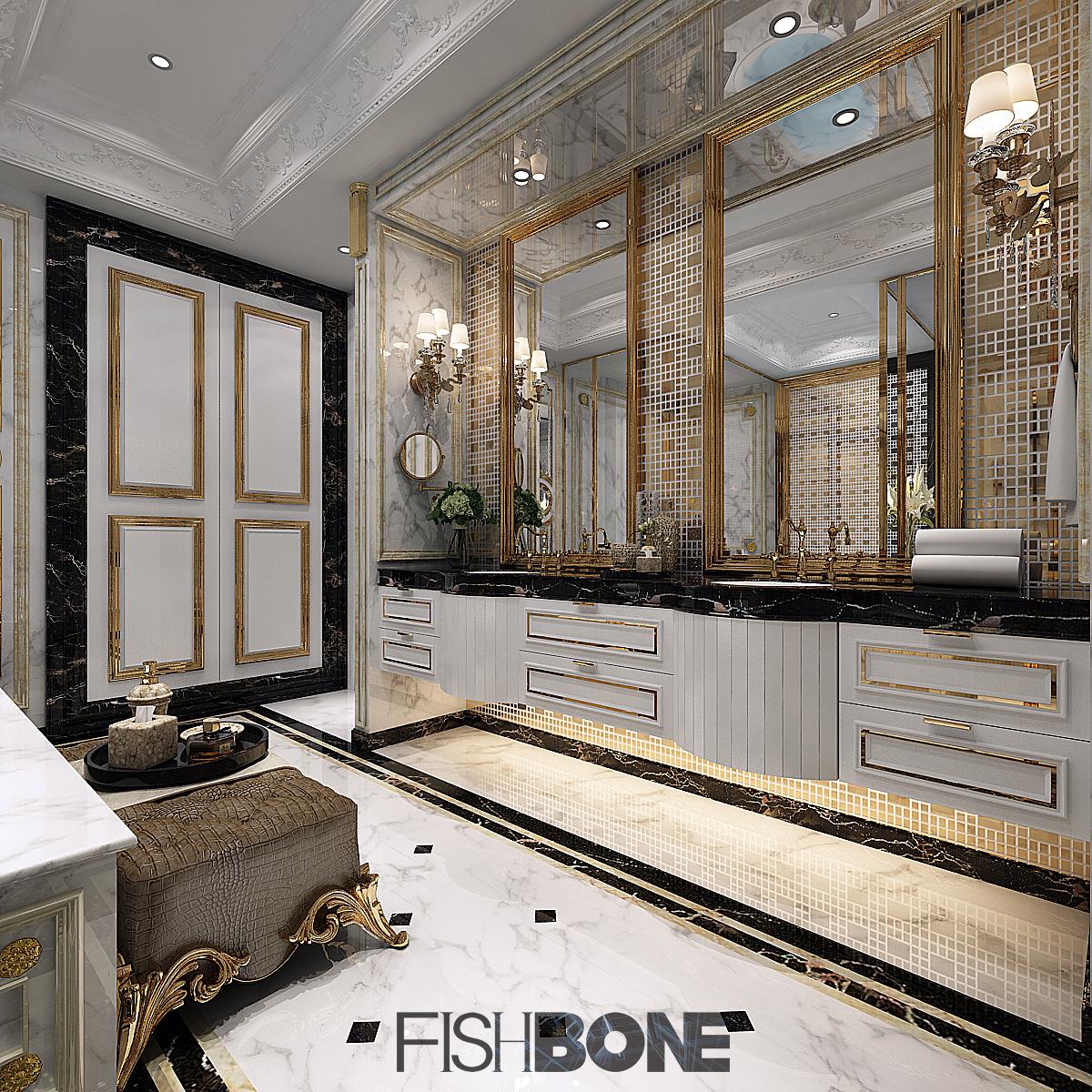 鱼骨设计-巴洛克风格别墅|空间|室内设计|鱼骨设计所