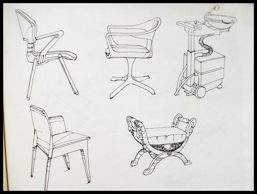 家具练习|速写|纯艺术|c乐活