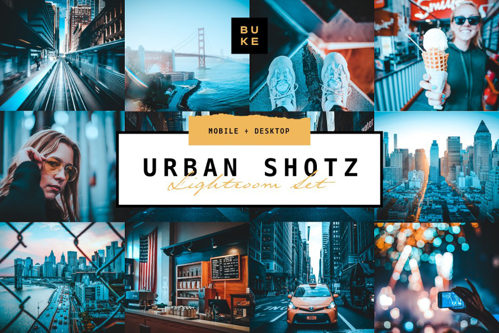 【P357】Urban Shotz魅力蓝城市旅拍预设Urban Shotz – Pro Lightroom