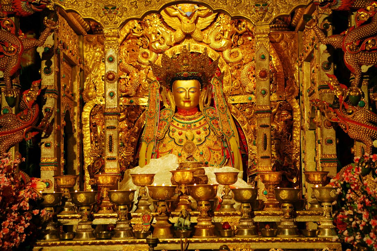 藏族集市手绘线稿