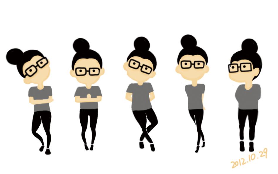 卡通人物形象——《我戴眼镜》