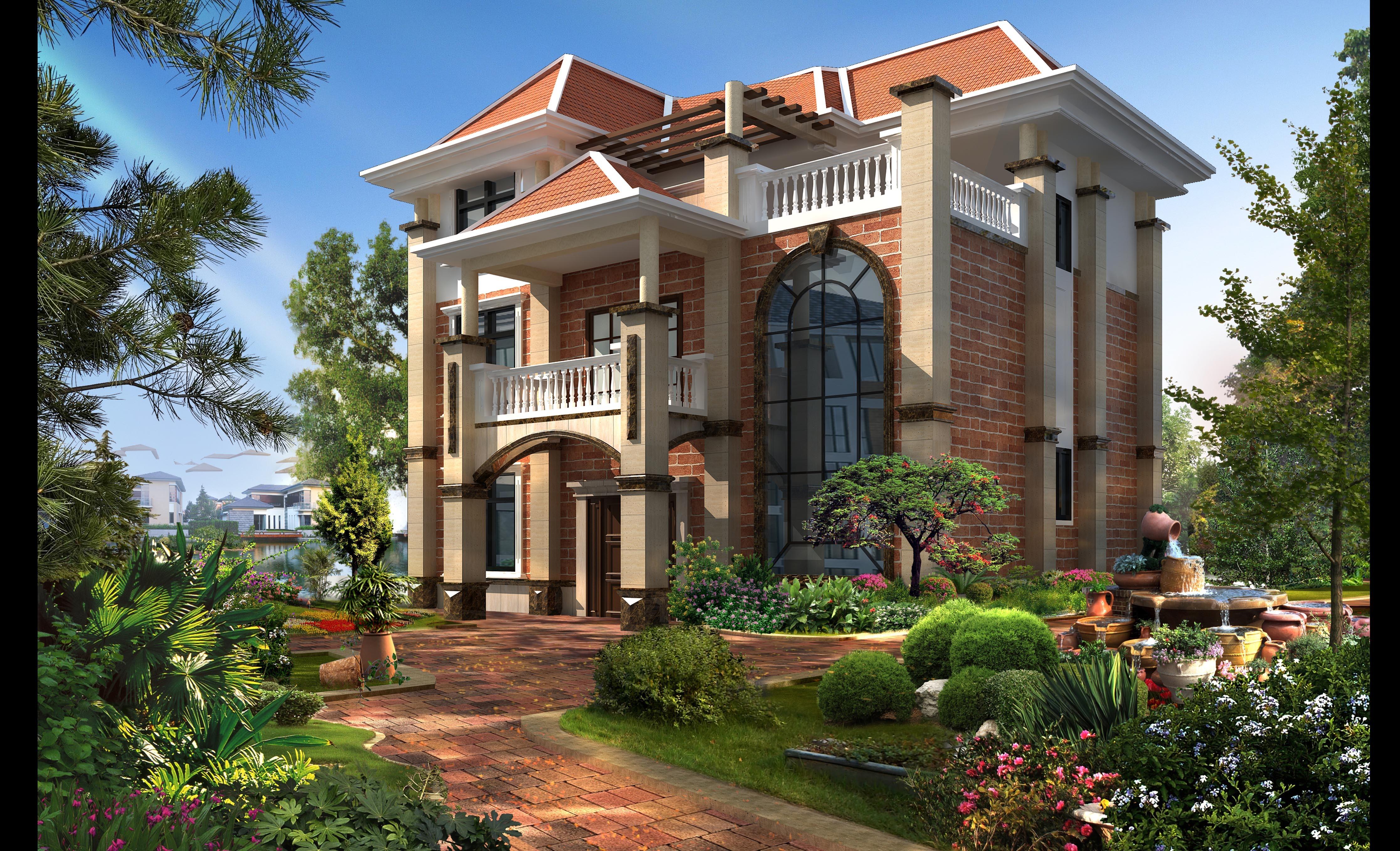 一组别墅设计|空间|建筑设计|艺鸣design - 原创作品图片