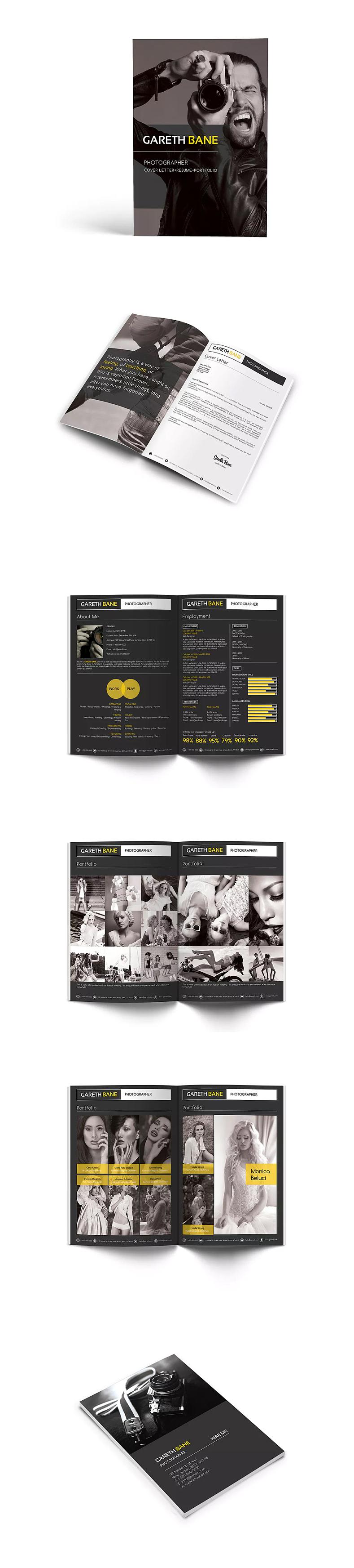 53tao毕业设计作品集模板产品目录宣传画册图册排版id图片