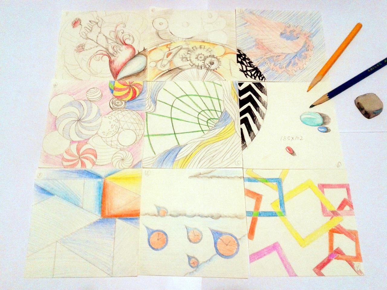 某文化公司2周年纪念明信片手绘设计