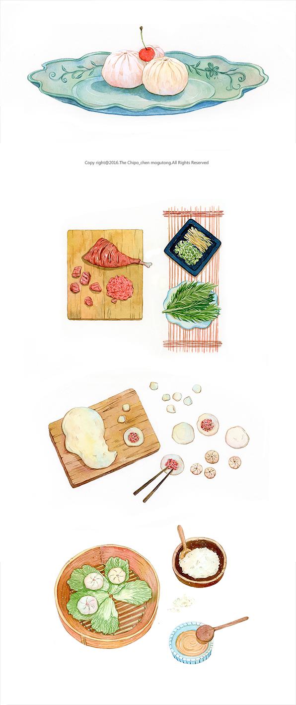 萌食店手绘水彩食谱