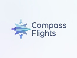 CompassFlights Logo Design