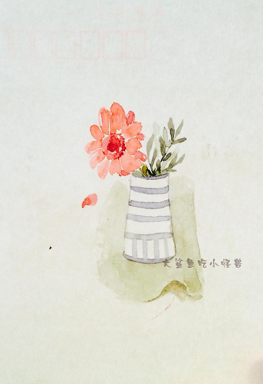 手绘水彩明信片1