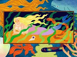 Goddess in the sea