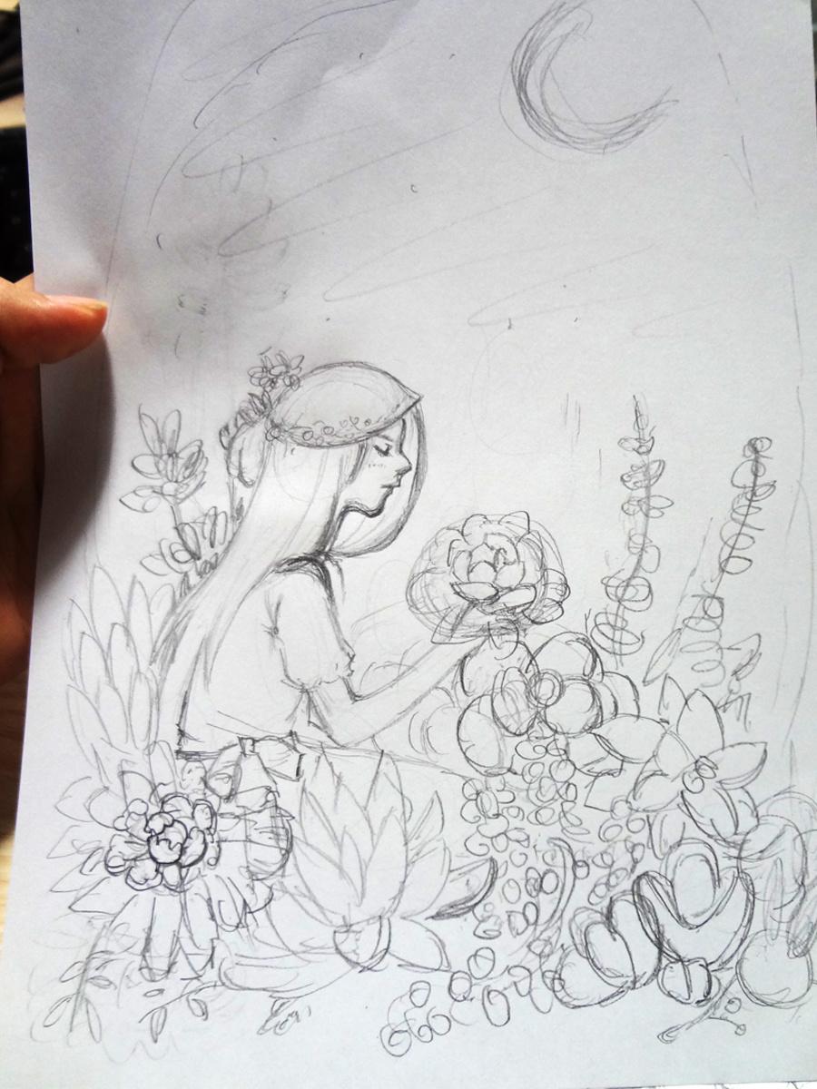 多肉小花园|插画|商业插画|泷艺的插画小镇 - 原创图片