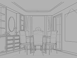 室内方案手绘设计-Hom