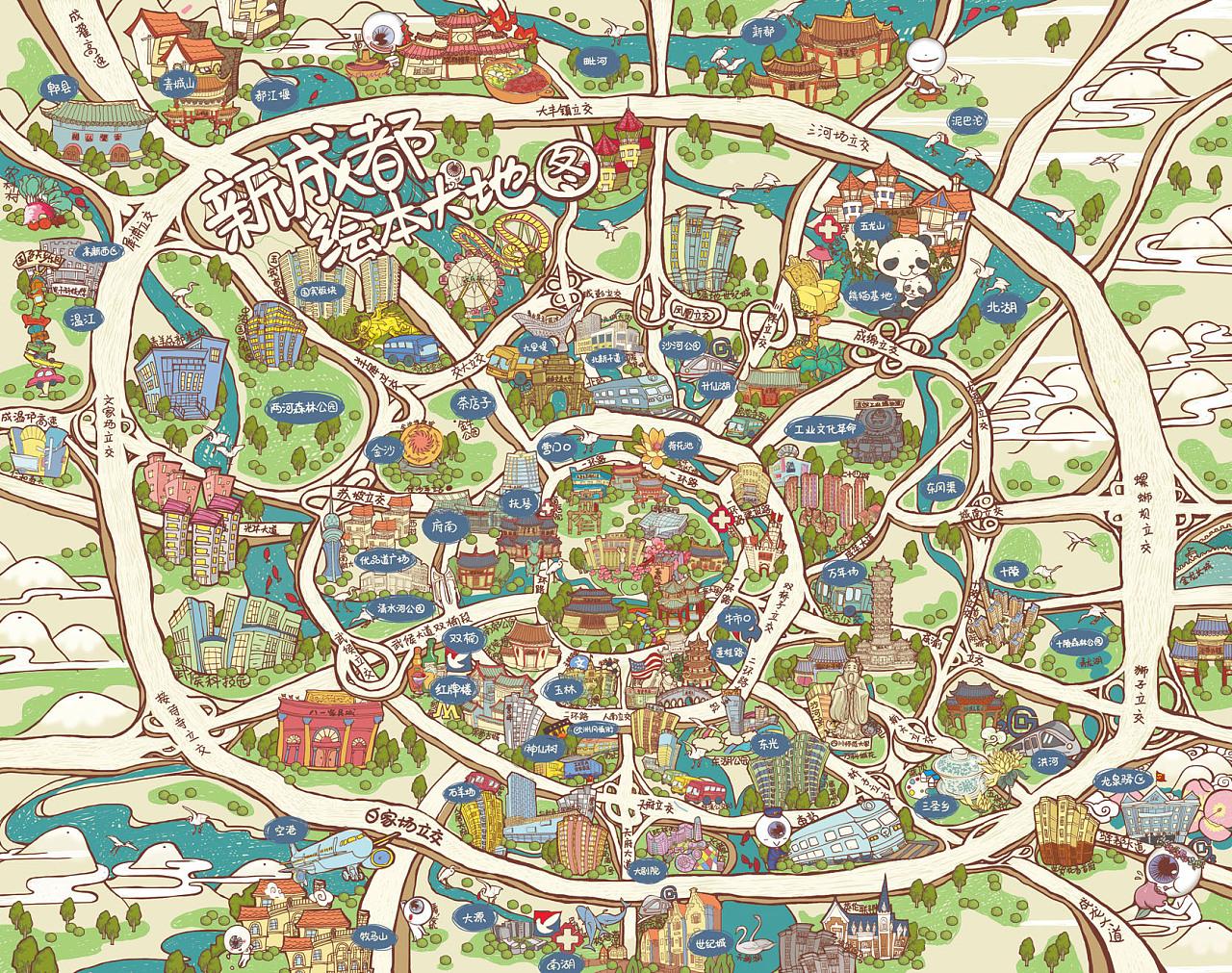 成都手绘大地图合集