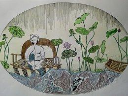 民间美术为题材的插画