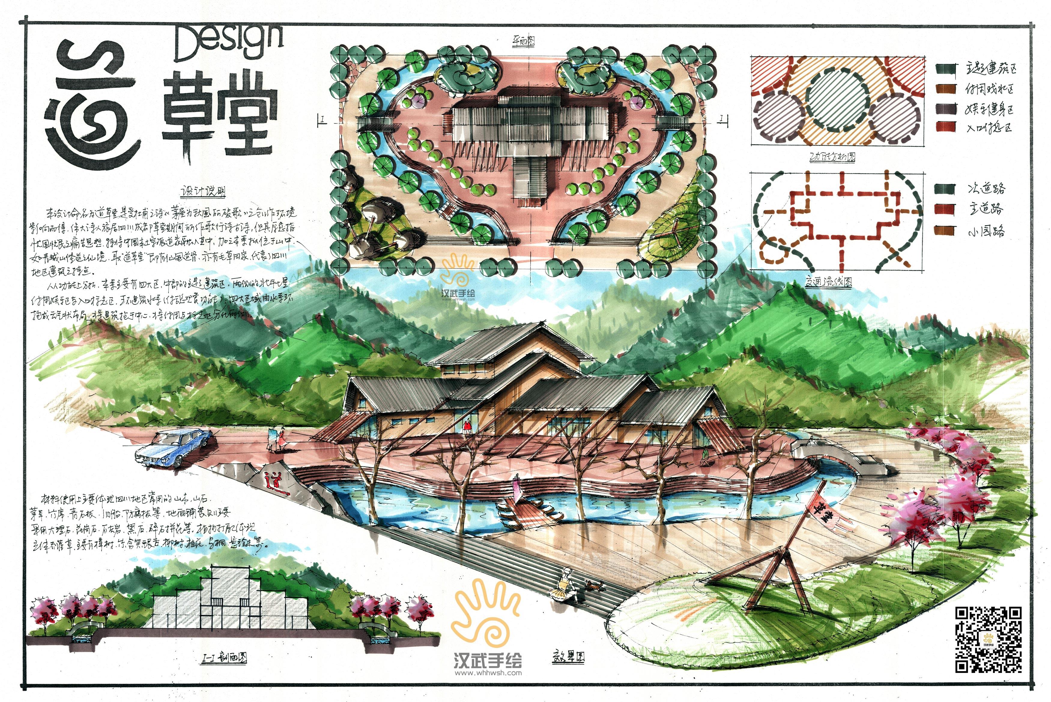 景观建筑手绘快题模版发布