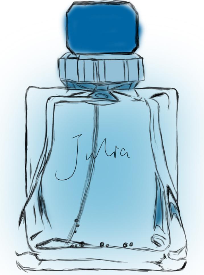 香水手绘效果图