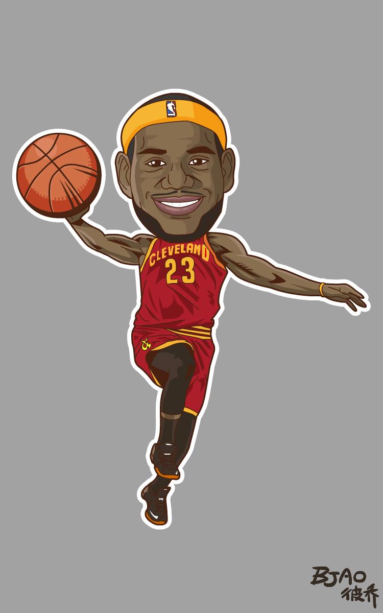 NBAplayzone球星卡通造型|动漫漫画|肖像|bja七巧板漫画的联想图片