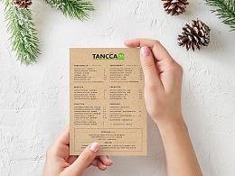 TANCCA MENU DESIGN 奶茶店菜单