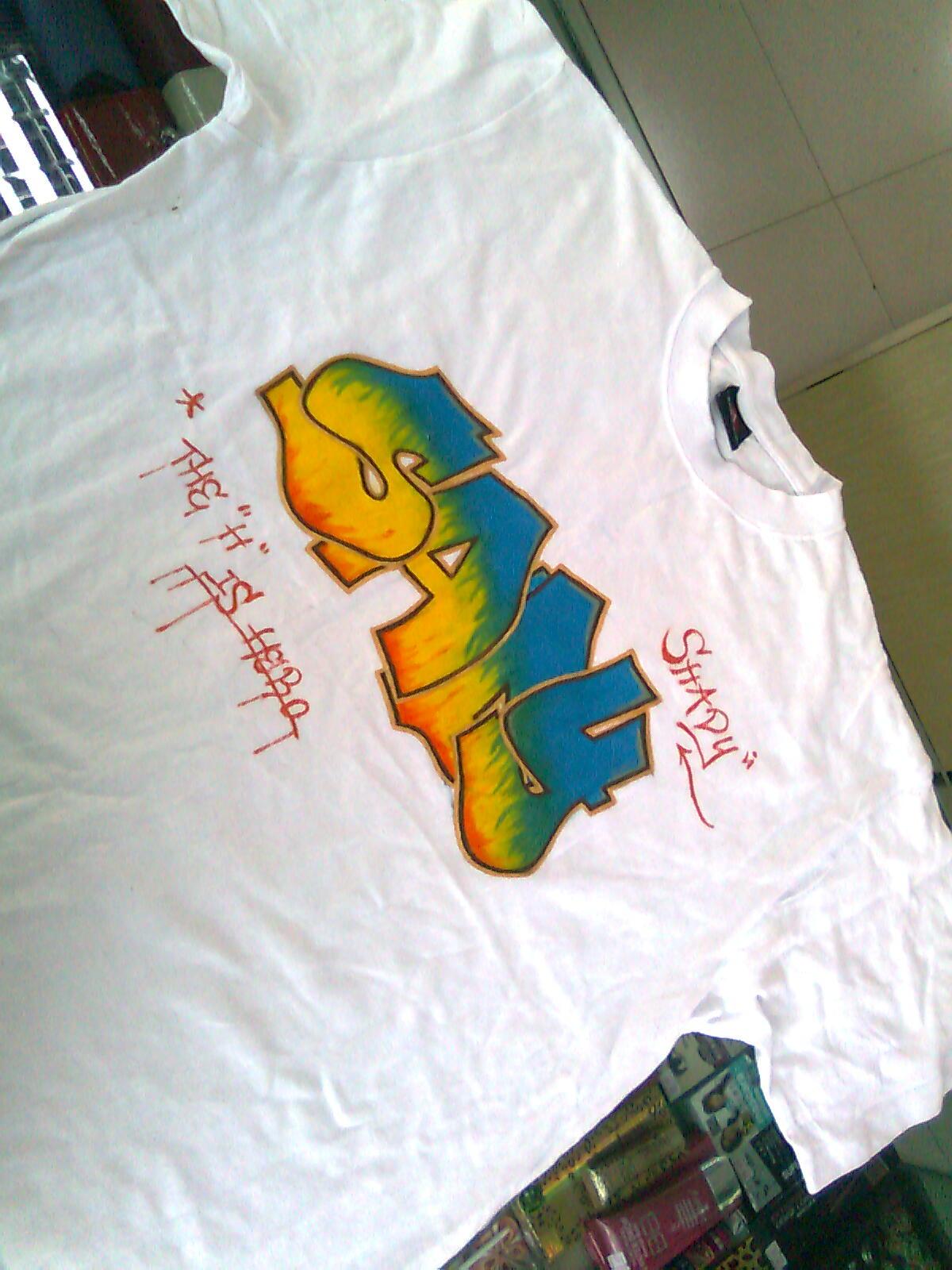 手绘涂鸦t恤|插画|插画习作|7innie - 原创作品