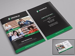 绿色高端教育培训画册模板