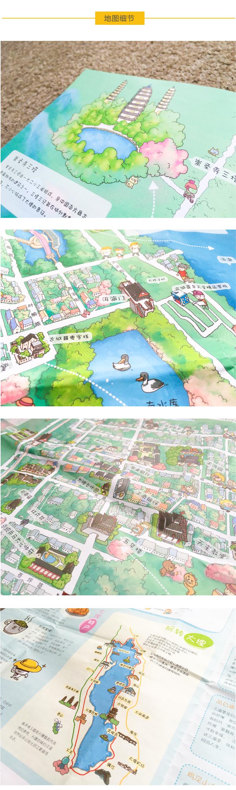 原创作品:大理手绘地图
