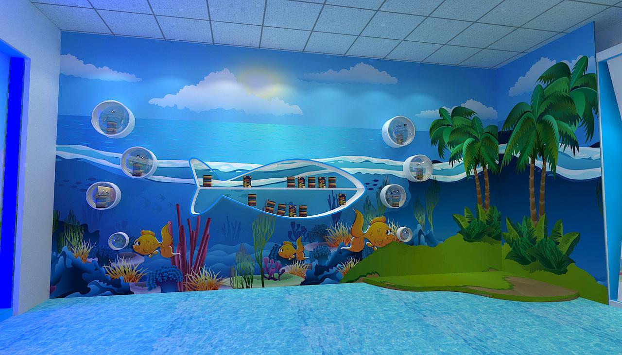 学校海洋主题画展图片