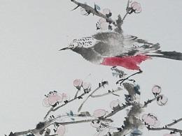 纸本水墨-花鸟