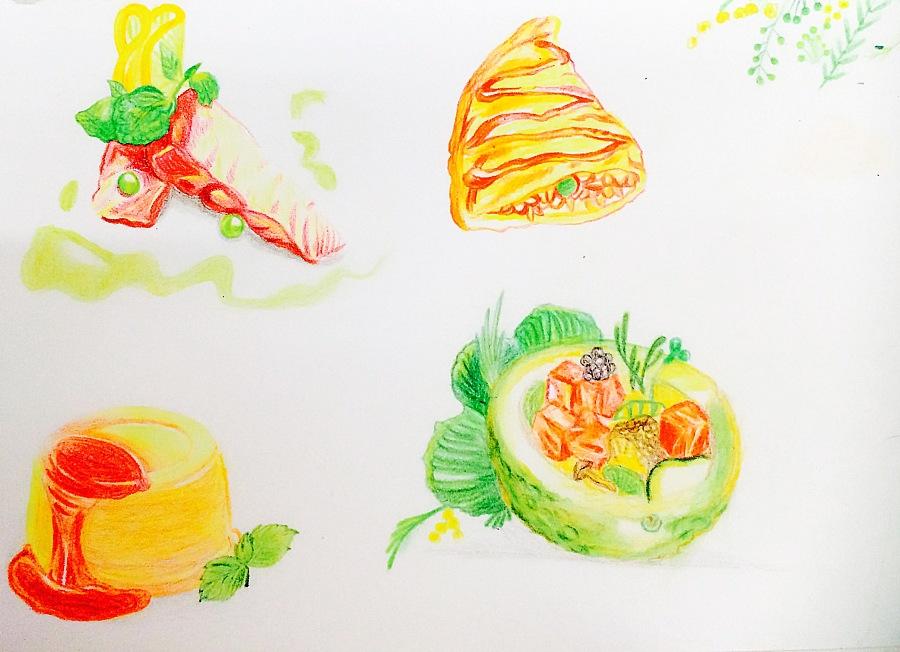 手绘食物练习|绘画习作|插画|小山风