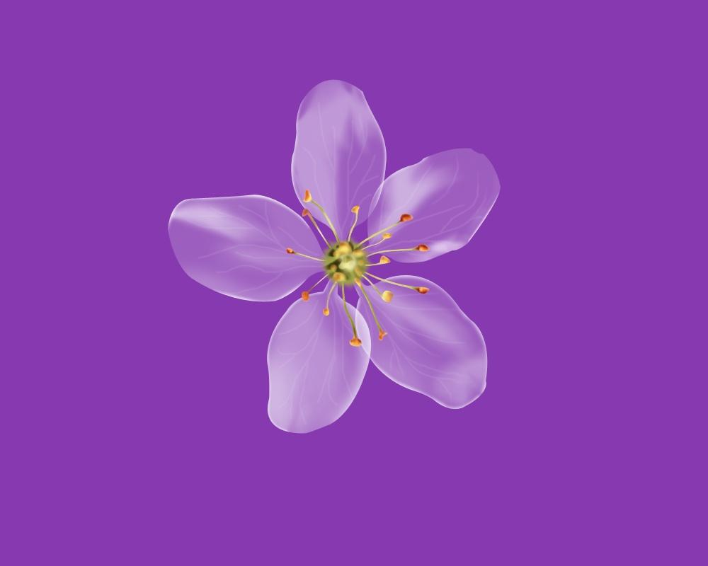 微信头像女手绘花朵