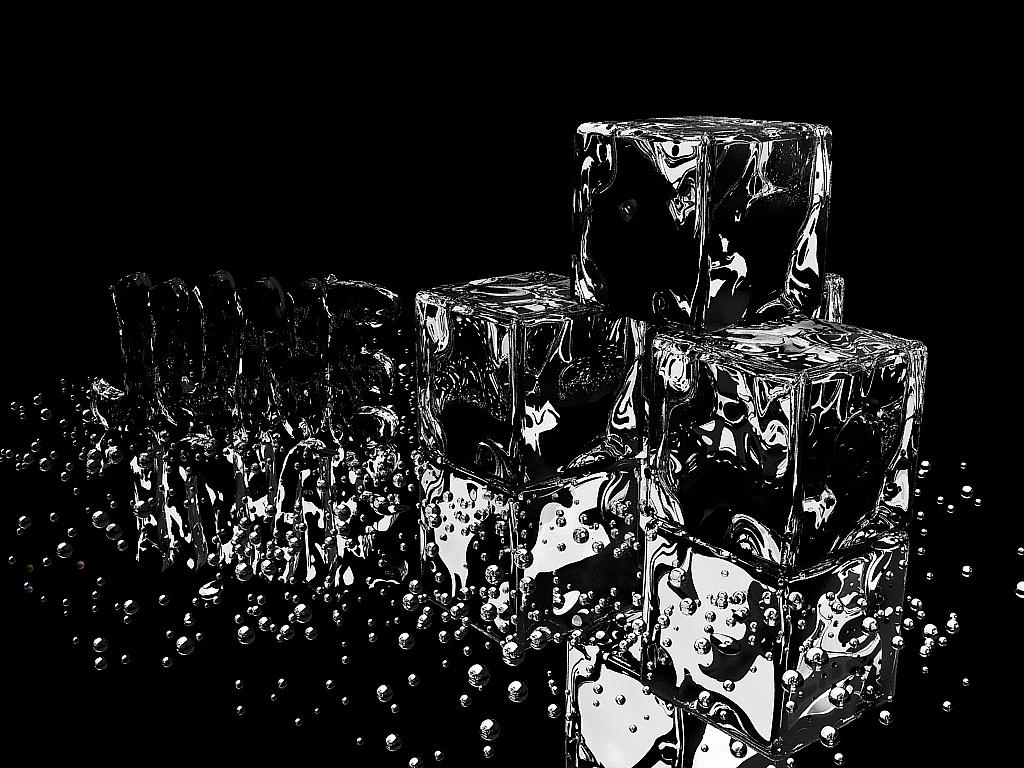 壁纸 黑白 冰块 桌面 三维 3D|三维|其他三维|潘昱君 - 原创作品 - 站酷 (ZCOOL)
