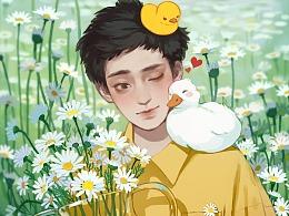 【原创插画】嗨!你好鸭!