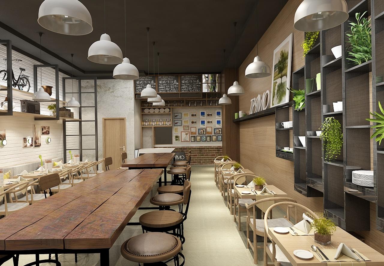 面馆店面设计效果图 |空间|展示设计 |餐饮设计