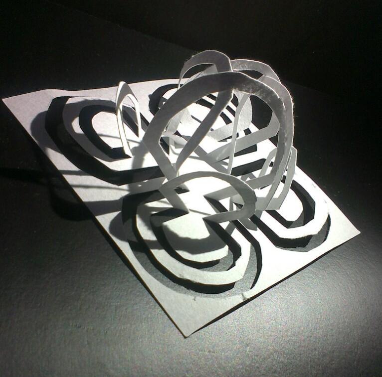 立体构成--剪纸|其他手工|手工艺|夕妧 - 原创设计图片