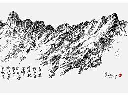 线相系列—钢笔画·高原