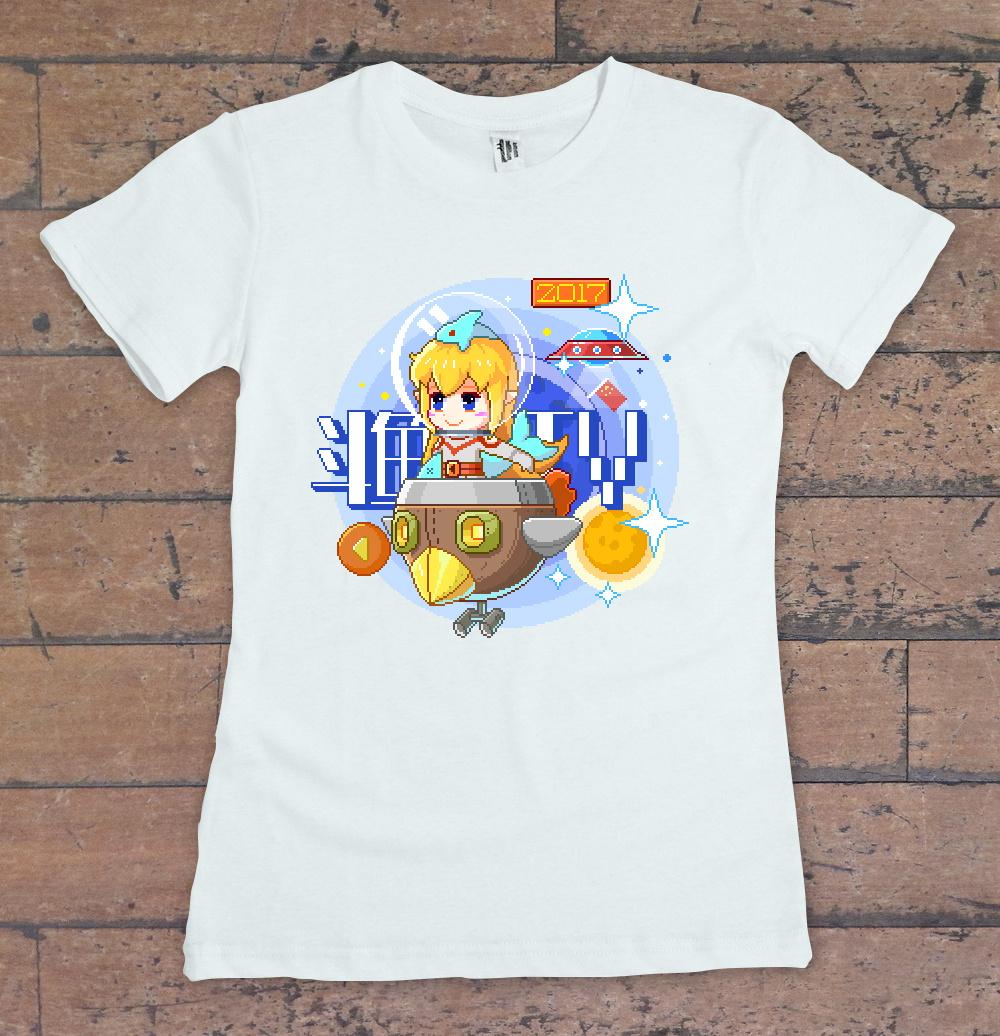 鲨鱼娘像素t恤