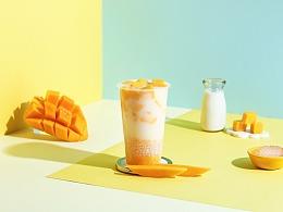 ins卡纸风格奶茶拍摄|茶饮&饮品摄影|上海魔摄视觉