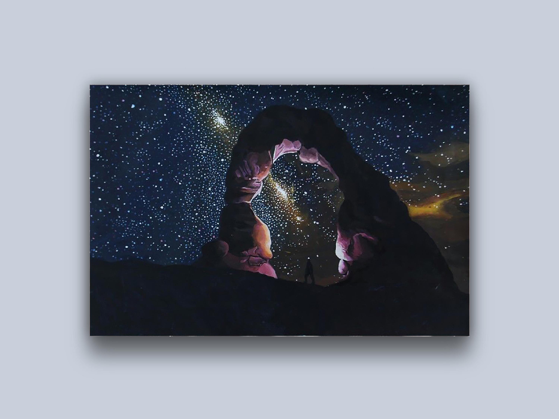 丙烯手绘-星空