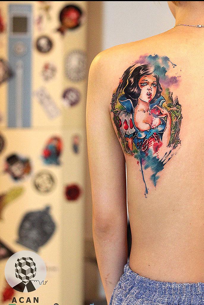 原创作品:白雪公主纹身