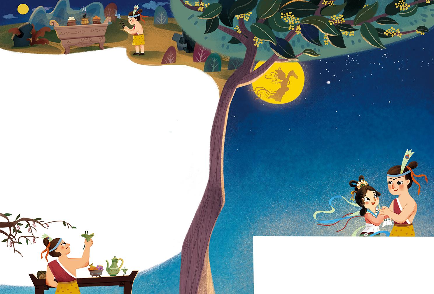 嫦娥奔月的故事电视内容|嫦娥奔月的故事电视版面设计图片
