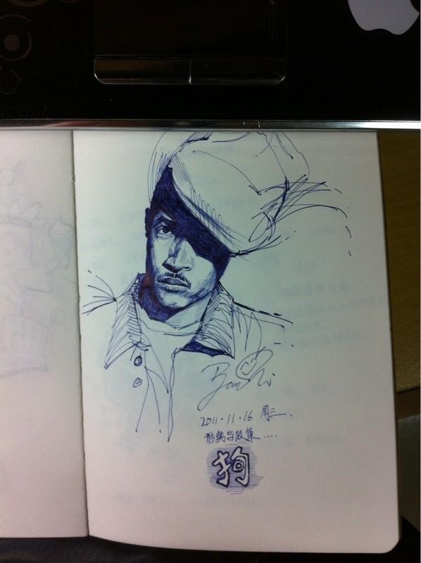 油笔画 图片