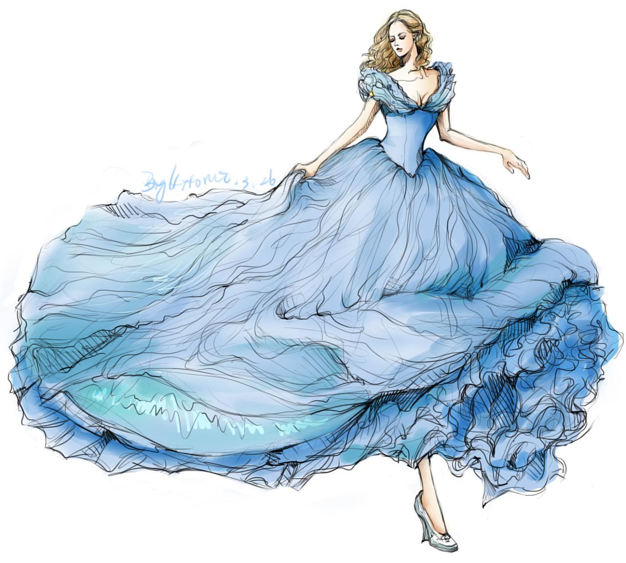 婚纱礼服手绘练习