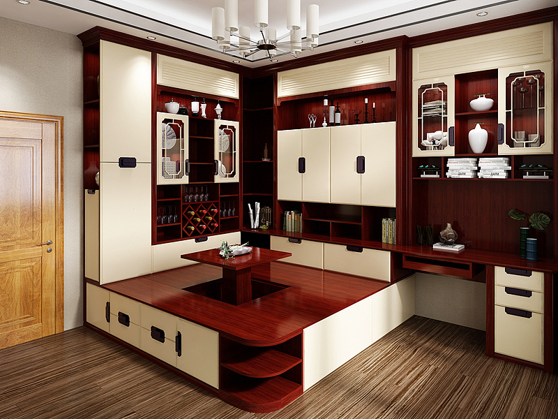 新中式家具产品设计+展厅设计图片